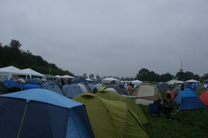 Tents pitched at Wacken Open Air 2011