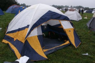 My tent pitched in Wacken