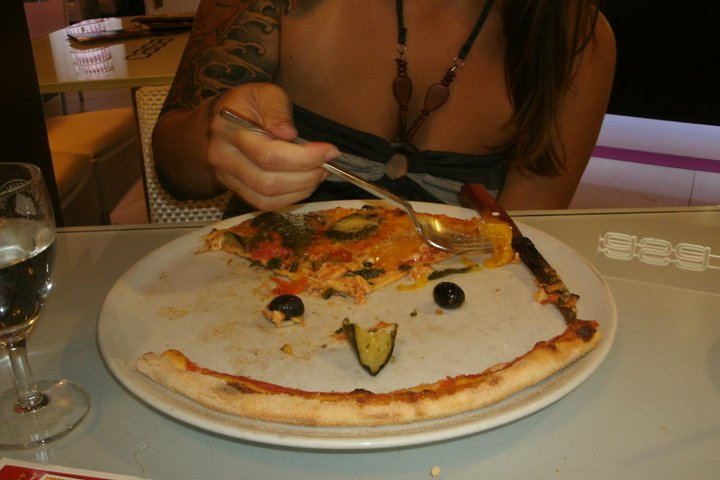 Vegetarian Pizza in Berlin, Germany