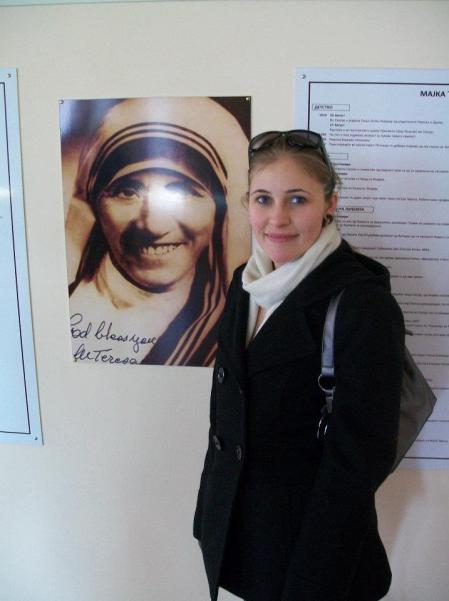 Memorial to Mother Teresa in Skopje