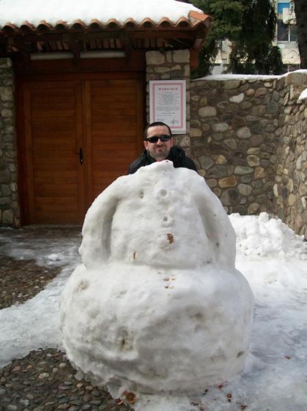 Fun in the snow in Skopje