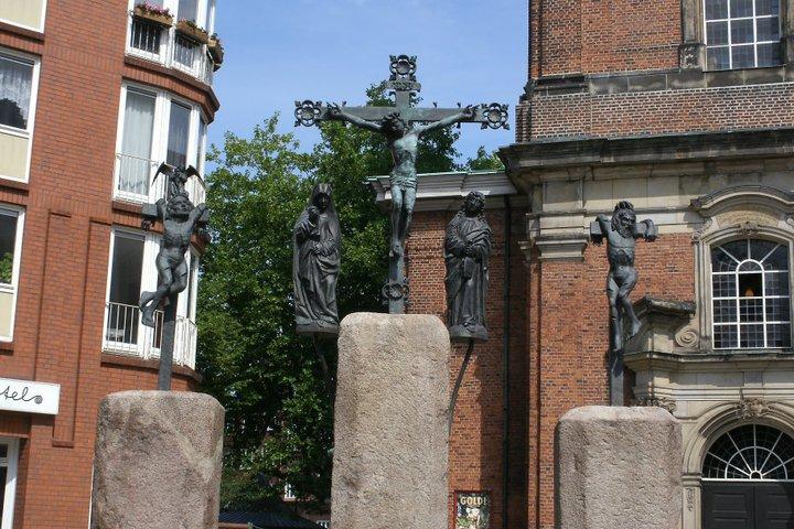 Town center of Hamburg, Germany