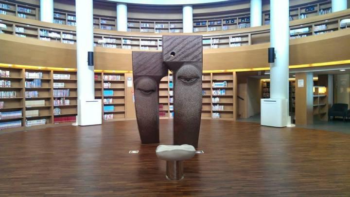 Pu Tai Senior High School library art