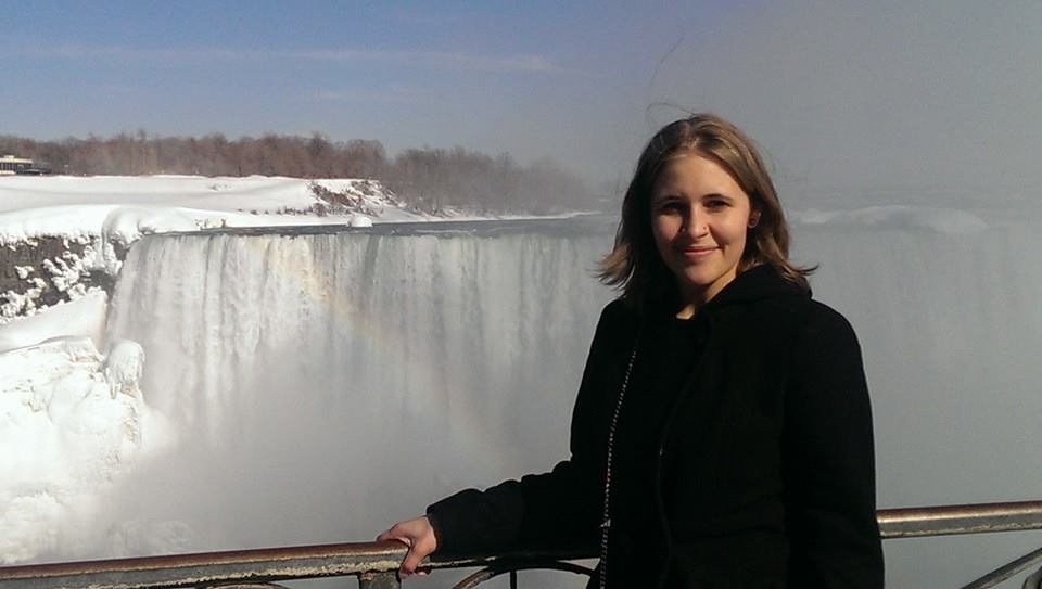 Janelle at Niagara Falls, Ontario
