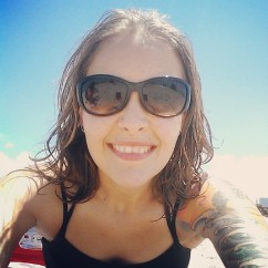 At the beach in Galveston