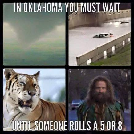 Jumanji reference in Oklahoma May 6, 2015