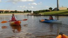 Kayaking at the Boathouse District in OKC