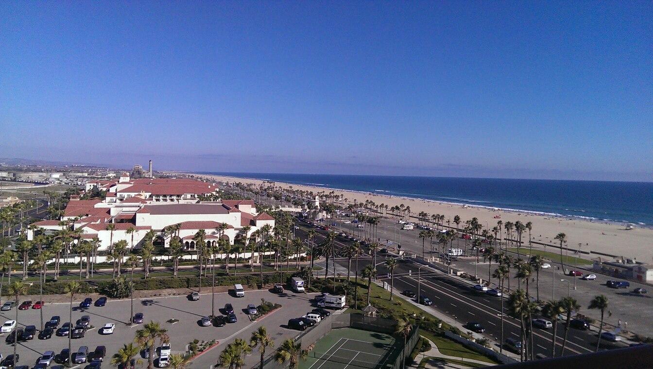 Huntington Beach hotel room view
