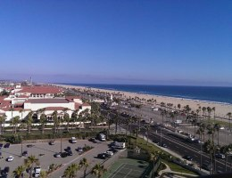 Huntington Beach hotel room view