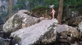 Hiking Cedar Falls Trail at Petit Jean State Park