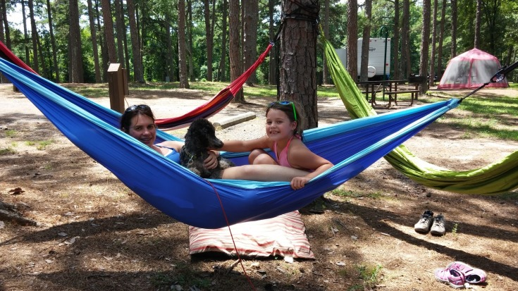 Hanging out in hammocks at Petit Jean State Park