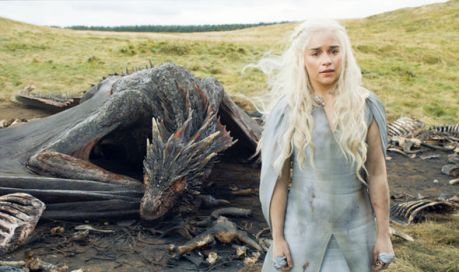 Daenerys and her Dragon in Game of Thrones