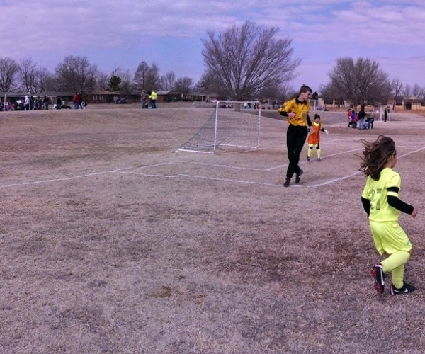 Panoramic Shot - Playing Soccer