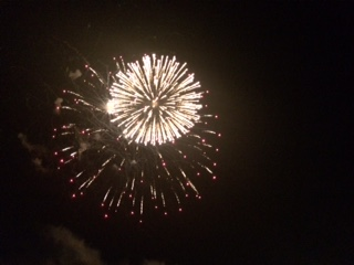 Fireworks in Midwest City on 4th of July