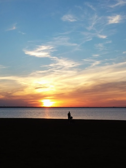Sunset at Lake Hefner in OKC