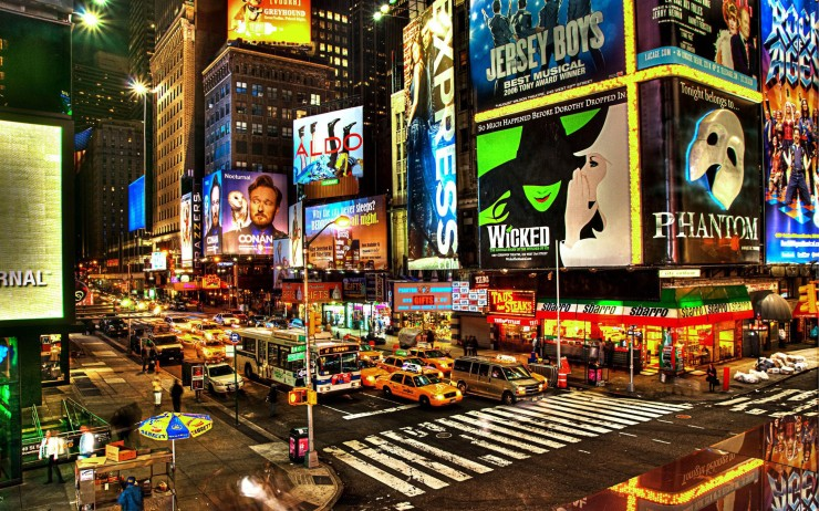 New York City Broadway Night
