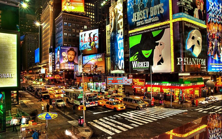 New York City Broadway Night