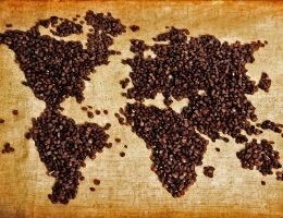 World Map Coffee