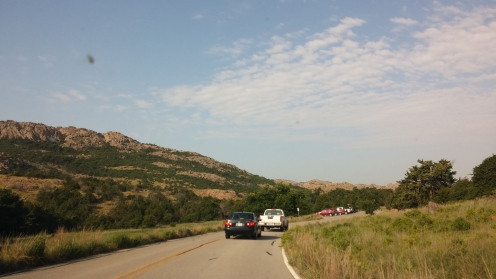 Arriving at Wichita Mountains Wildlife Refuge