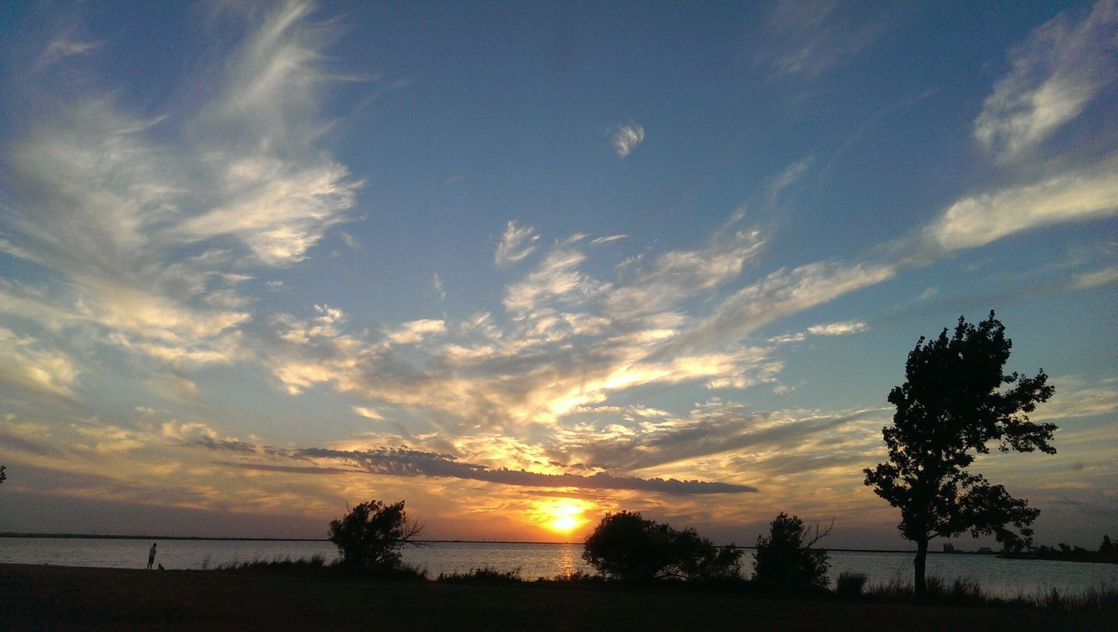 Lake Hefner in Oklahoma City
