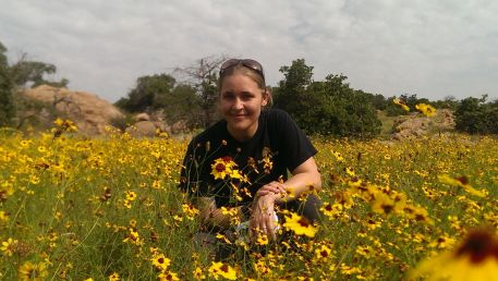 Me in a patch of wildflowers in the Wichita Mountains