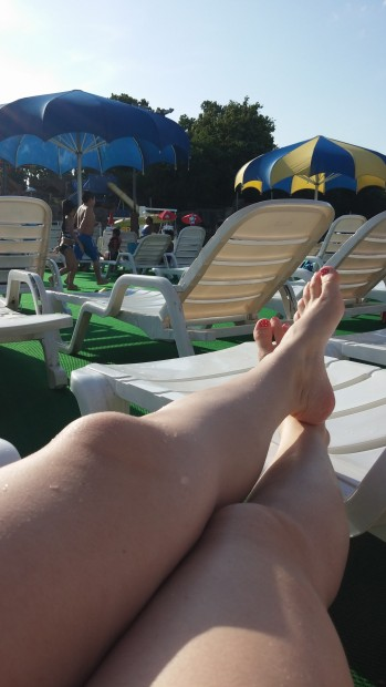 Relaxing at White Water Bay