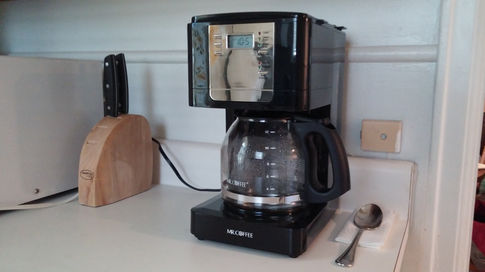 New coffee pot with auto brewer