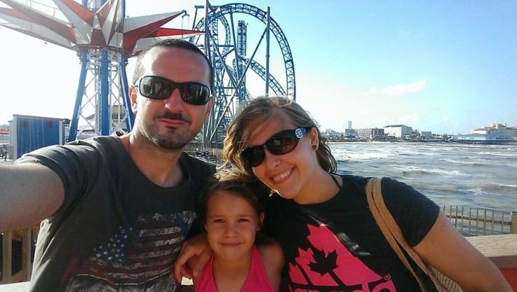 Me and my family in Galveston, TX
