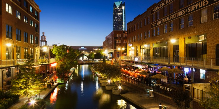 Bricktown in Oklahoma City, OK