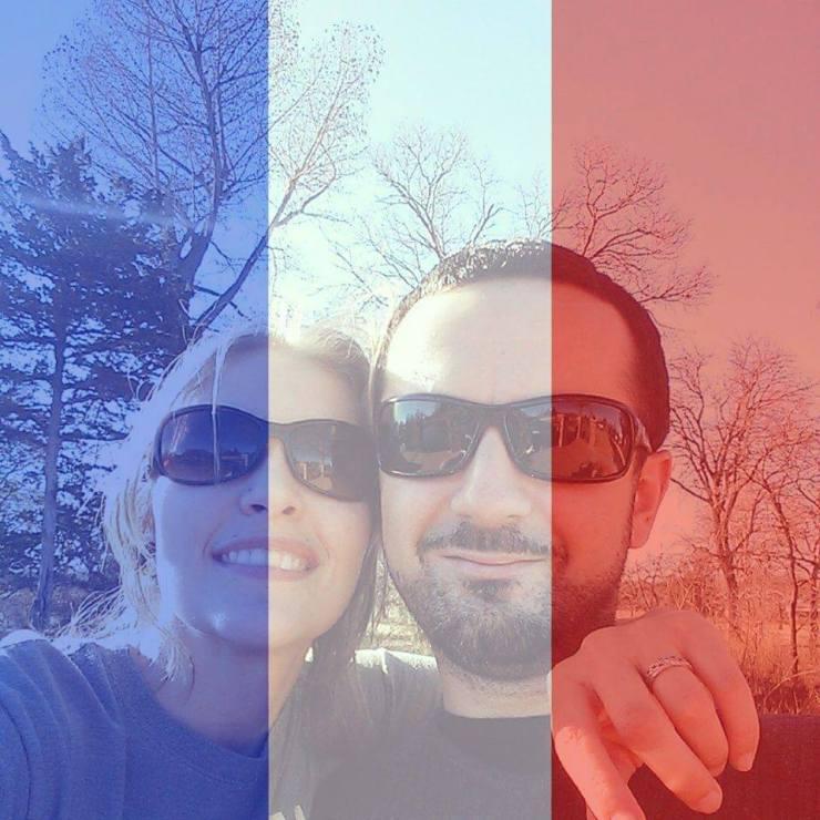 Paris Flag Facebook Profile Picture