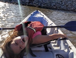 Kayaking and being silly