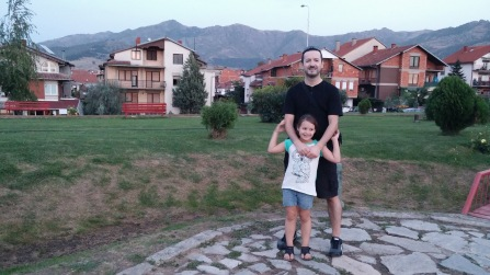 Dad and daughter in Prilep