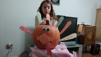 Thanksgiving turkey pumpkin