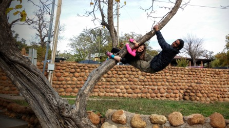 More tree climbing in Medicine Park