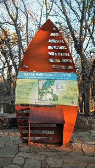 Martin Park Nature Center Sign