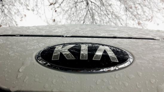Kia Forte in ice