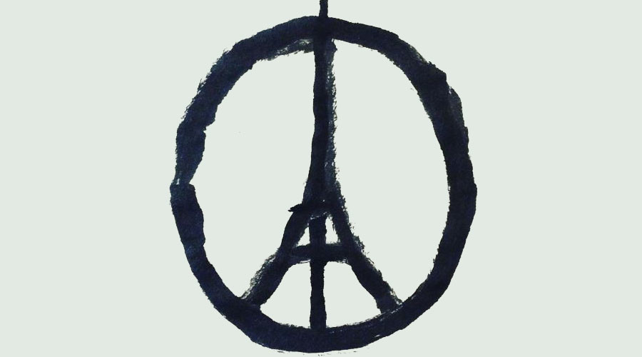 Peace sign for Paris