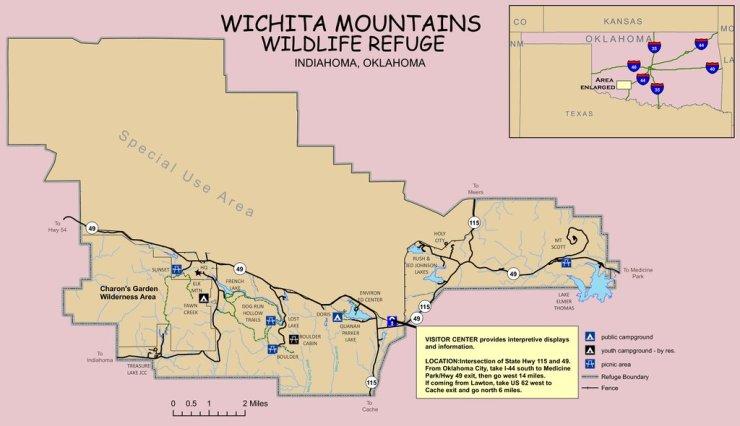 Wichita Mountains Wildlife Refuge - Maplets