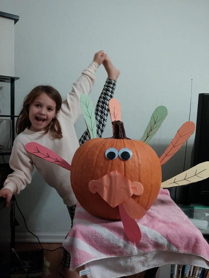 Thanksgiving turkey pumpkin