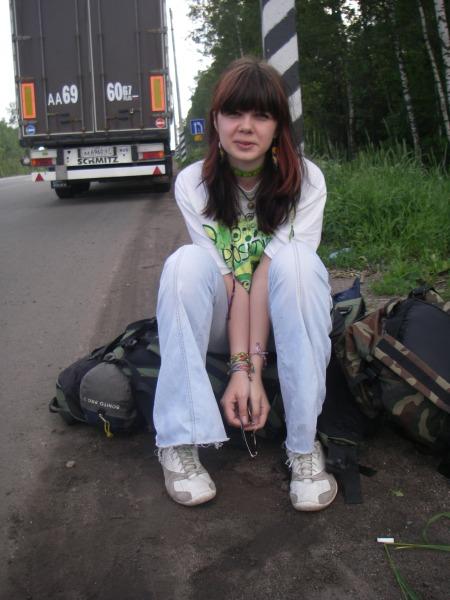Hitchhiking in Ukraine