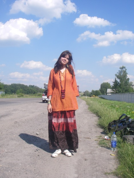 Hitchhiking in Ukraine