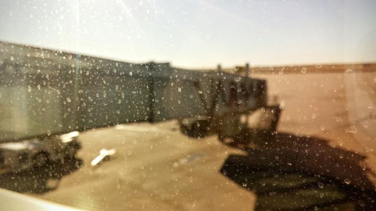 Empty plane terminal in OKC