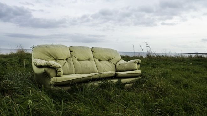 An old couch