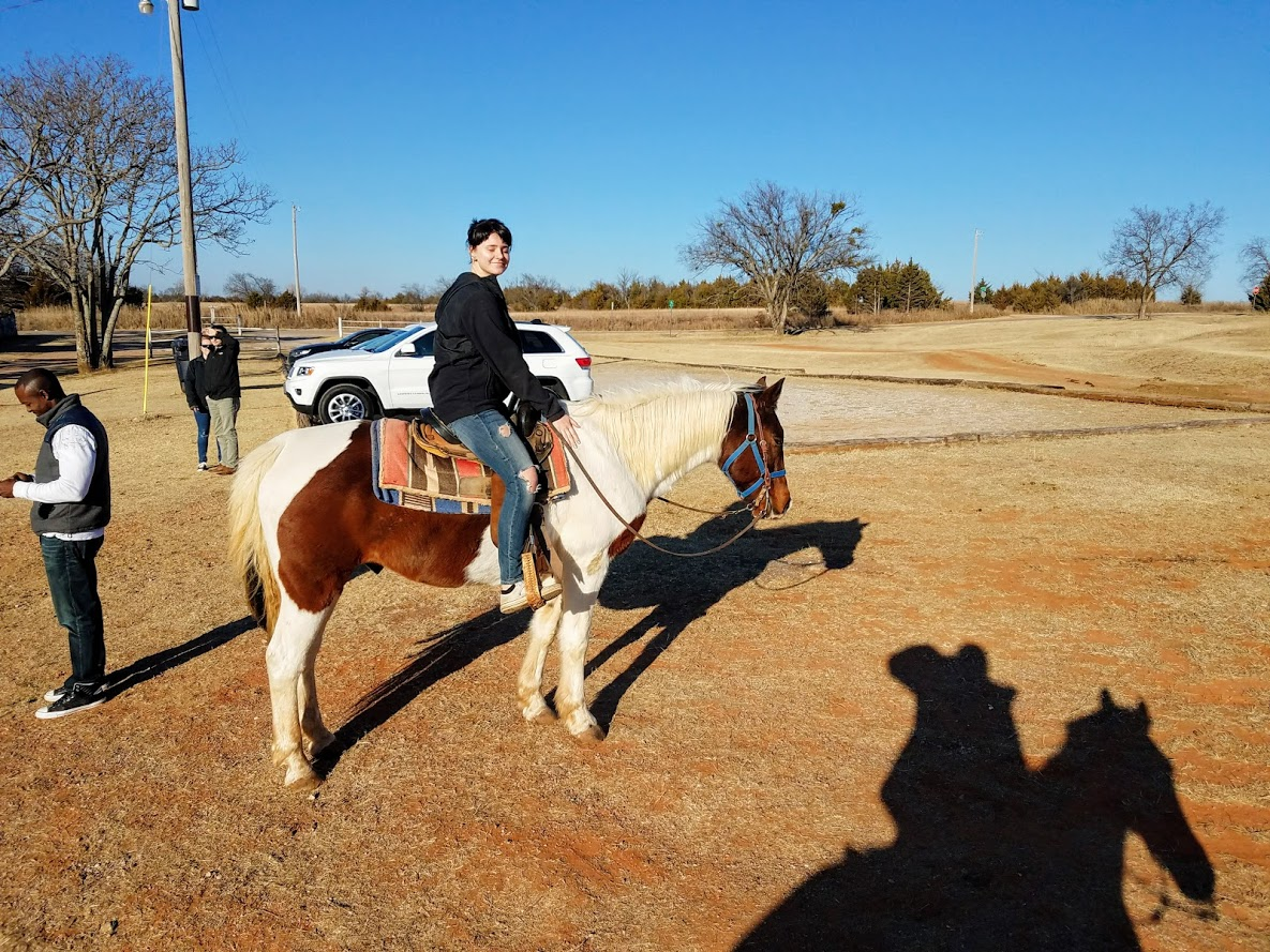 "My sister and her horse ""Pistol"""