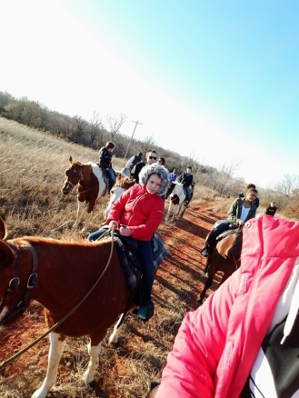 Group of horse riders on New Year's Day