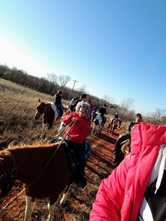 Riding horses on New Year's Day