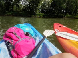 Kayaking on the Illinois River