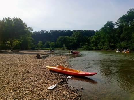 Taking a break on the Illinois River