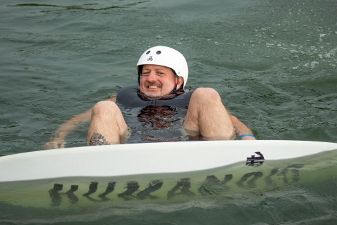 Billy wake boarding at Wake Zone in OKC